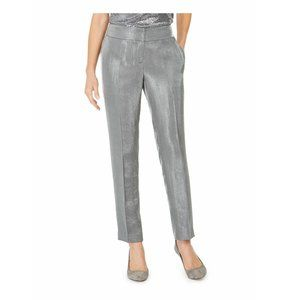 Kasper Petite Silver Streak Dress Pants 8P NEW